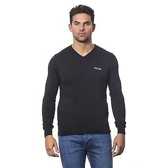 Roberto Cavalli Sport Anthracite Grey V-Neck Sweater
