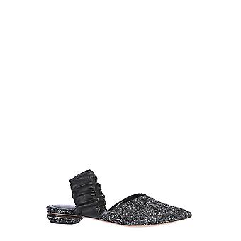 Nicholas Kirkwood 902a49tmc5wn1 Women's Black Leather Flats