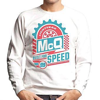 Pixar Cars Lightning McQueen Tyres Built For Speed Men's Sweatshirt