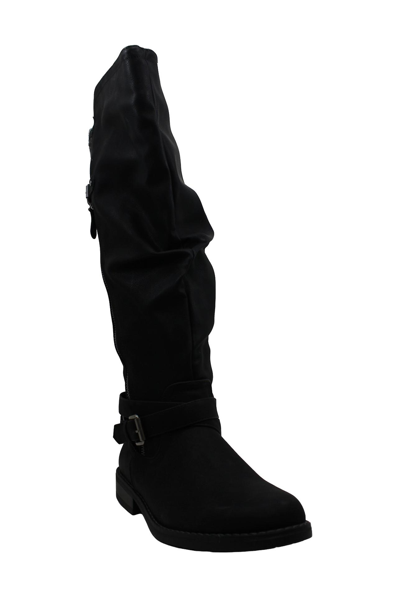 Xoxo Women's Shoes Miles Almond Toe Knee High Riding Boots