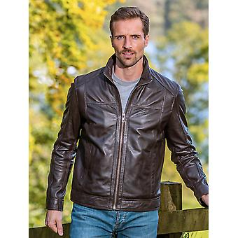 Penrith Leather Jacket in Brown