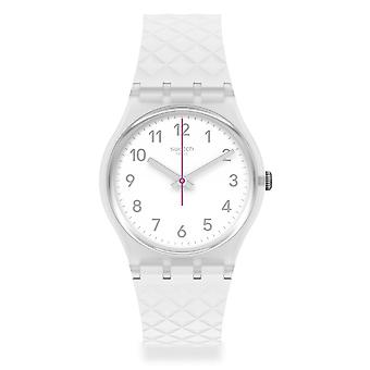 Swatch Ge286 Whitenel White Silicone Watch