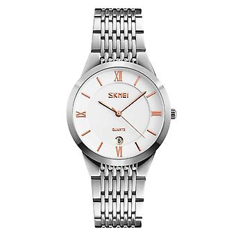 SKMEI 9139 Casual Style Calendar  women Wrist Watch Leather Strap Couple