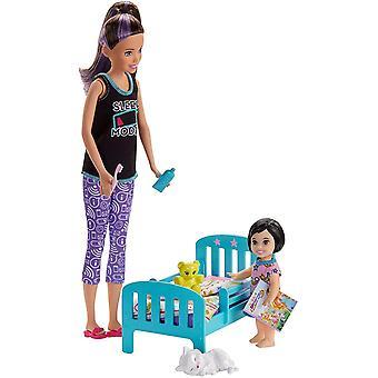 Barbie Skipper Lapsenvahdut INC Doll Lapsenvahti Nukke, Nukkumaanmenoaika