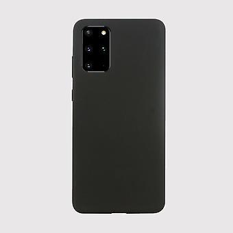 Black liquid silicone samsung galaxy s20+ case