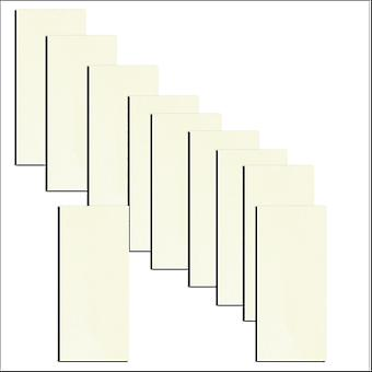 10 Frost White DL Paper Inserts To Fit Hakana & Inari