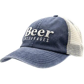 Grunt Style Beer Encourages Mesh Hat - Blue