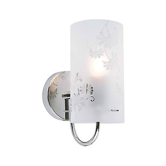 Moderne wandlamp Chrome 1 Licht met matte tint, E27