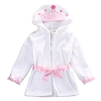 Lovely Baby Cartoon Hooded Bathrobe, Child Toddler Bathing Towel Robe Cute