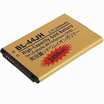 BL-44JH 2450mAh بطارية الأعمال الذهبية ذات السعة العالية لـ LG MS770 / أوبتيموس L7 / P705