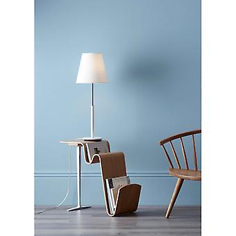 Lampe de table Costello en métal et blanc de Matt