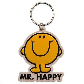 Mr Men Mr Happy Keyring