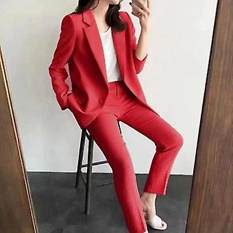 Women Suit Female, Autumn Long - Sleeved Small Jacket Trousers Casual