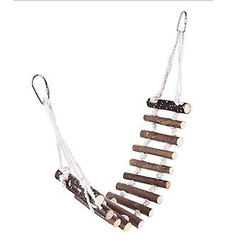 10cm Parrot Log Hangbrug voor Bird Toys Standing Objects Brown