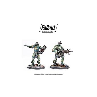 Fallout Wasteland Warfare Miniatyrer Super Mutants Overlord och Fist