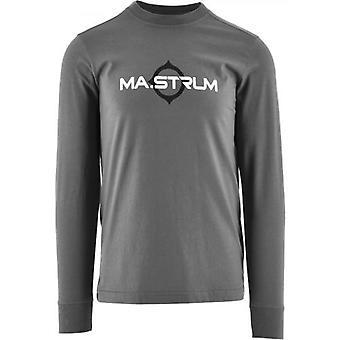 MA.STRUM Grey Long Sleeve Logo Print T-Shirt