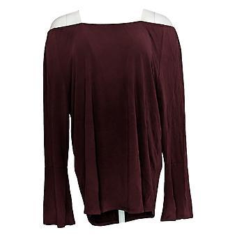 Kelly By Clinton Kelly Women's Top Long Sleeve Red A297939