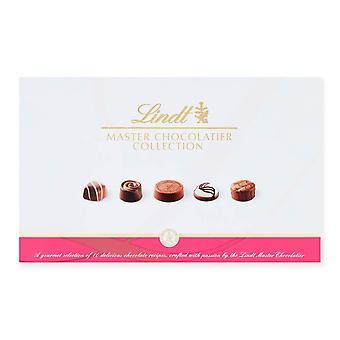 Lindt Master Chocolatier Collection Chocolate Box - 18 Pralines, 184 g - The Gift of Milk, White and Dark Chocolate