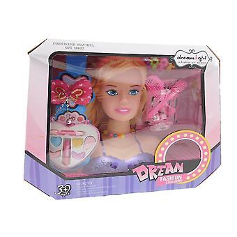 Allkindathings Mädchen Haar Styling Traum Mädchen Puppen Kopf Spiel Set mit Zubehör