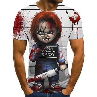 3d Zombie Print Rock T-paita