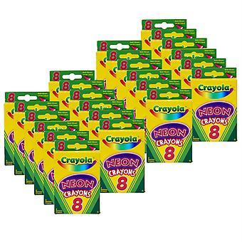 Neon Crayons, 8 Per Pack, 24 Packs
