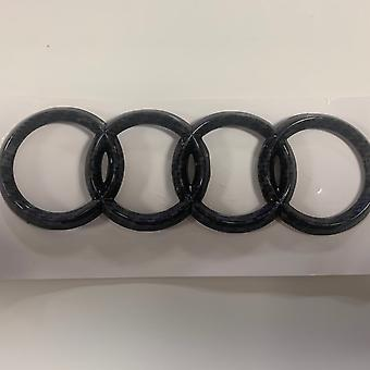 Gloss Carbon Fibre Rear Rings Badge A3 A4 A5 A6 S3 S4 S5