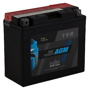 intAct YT12B-BS Maintenance Free AGM Bike-Power Battery
