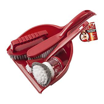 Upholstery and tin - 5 piece cleaning kit - plastic dusting and tin with long stem