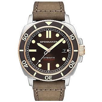 Spinnaker hull watch for Analog Man's Automatic with Suckled Bracelet SP-5088-04
