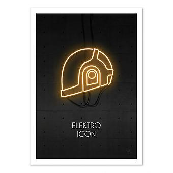 Art-Poster - Electro Icon Gold - Rubiant