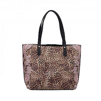 Liu-jo Tote M Shopping Bag In Ecopelle Leopard Print Bs21lj37 Aa1192