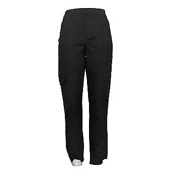 DG2 Af Diane Gilman Women's Jeans Stretch Twill Cargo Black 668088