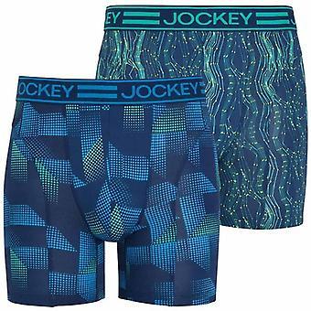 Jockey de sport en microfibre Active Boxer 2-Pack Trunk, Aqua Green, petit format