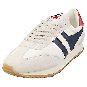Gola Boston 78 Mens Casual Trainers in White Navy Rood