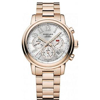 Chopard Mille Miglia Chronograph Silver Dial 18 Carat Rose Gold Automatic Men's Watch 151274-5001