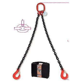 080920021 8092/Beta1 C7 Chain Sling 2 Beine im Kunststoffkoffer 7mm 1 Meter