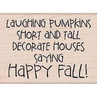 Hero Arts Happy Fall Rubber Stamp