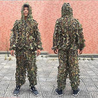 Hombres mujeres niños traje, jungle suit pantalones chaqueta con capucha