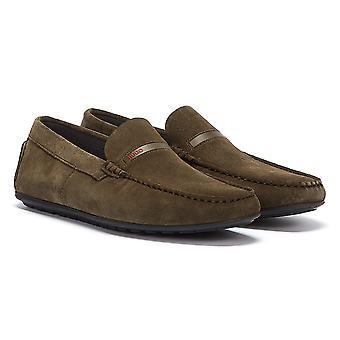 HUGO Dandy Moccassin Mens Khaki Shoes