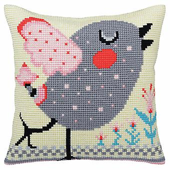 Collection d'Art Cross Stitch Kit: Cushion: Spring Twitter