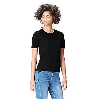 Amazon brand - find. Women's Crew neck T-shirt, Black, 42, Label: S