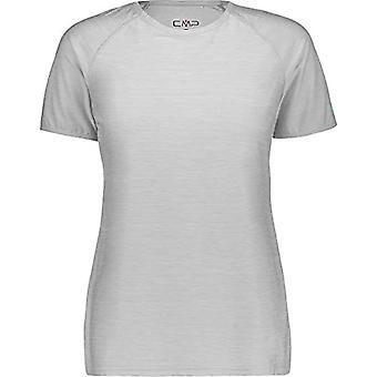 CMP Elastisches Melange T-Shirt mit Sonnenschutz UPF 40, Woman, Grey Mel-Ceramic, D46