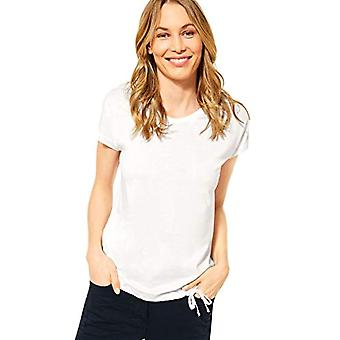 Cecil 316083 Smock Shoulder Shape T-Shirt, Pure White, S Woman