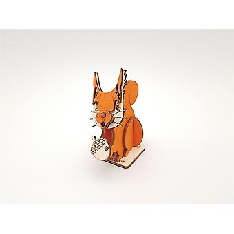 Coloured Red Squirrel by Pop Up Designs