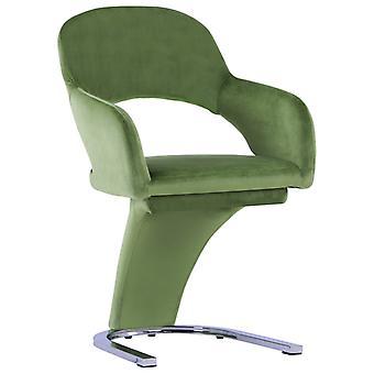 vidaXL sillas de comedor 4 piezas de terciopelo verde