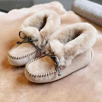 Comfortable Winter Warm Natural Fur Snow Shoes