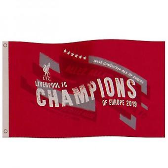 Liverpool FC mestareiden Euroopan lippu