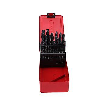 25ps Hss High Steel Drill Bit Set Twist Drilling Bits Kit für Metall Kunststoff Kupfer und Holz mit langlebigen Tragetasche