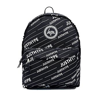 Hype Black Logo School Sports Gym Fashion Backpack Rucksack Bag Black/White
