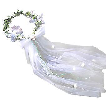 Bryllup Hovedbeklædning Brude Garland Veil Hår Medaljon
